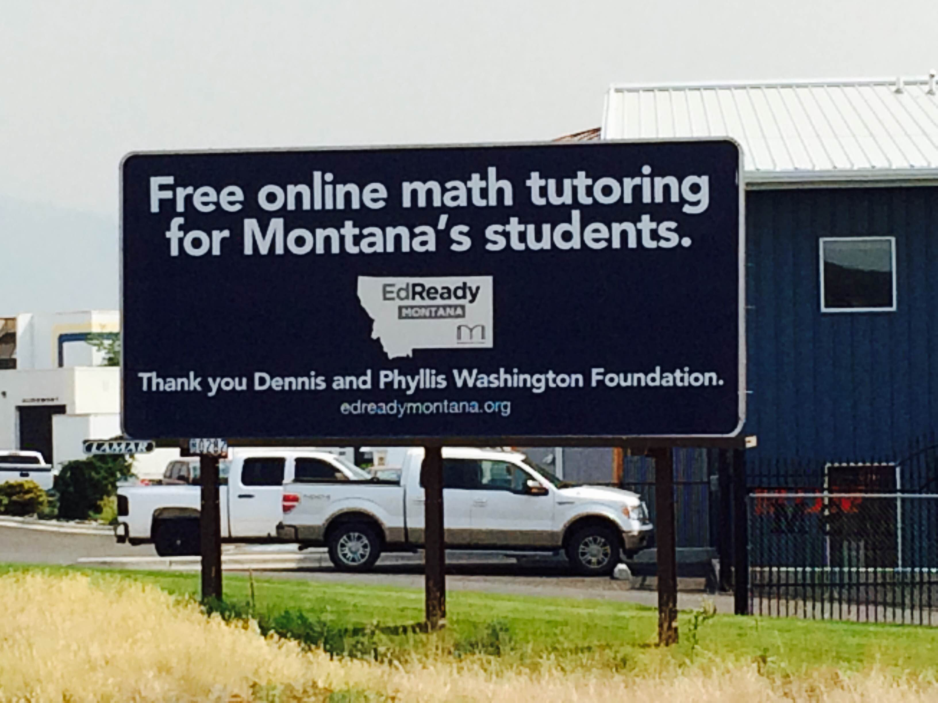EdReady Montana Billboard Photo