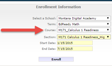 EdReady Higher Ed Enrollment Info Picture
